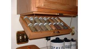 Spice Rack Ideas Creative Kitchen Storage Idea Under Cabinet Spice Rack Youtube