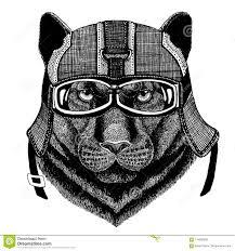 шлем Motorycle битника черной пантеры животный нося изображение для