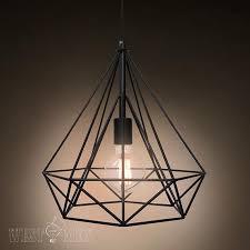 metal wire pendant lamp diy vintage