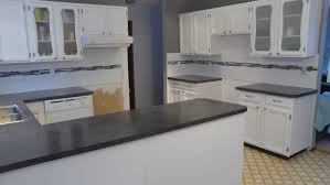 Natural Stone Kitchen Floor Tiles Offset White Ceramic Subway Tile With Black And White Linear Glass