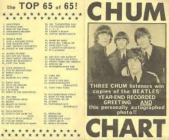 1965 Chum Chart Featuring The Beatles The 1960s In 2019