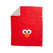Sesame Street All Eyes Elmo Twin Quilt | The Land of Nod & Sesame Street All Eyes Elmo Twin Quilt ... Adamdwight.com