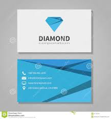 Office Visiting Card Diamond Corporation Business Card Template Stock Vector