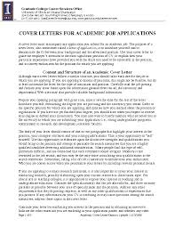 Academic Job Application Cover Letter Lezincdc Com