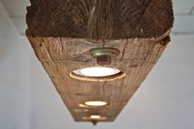 lighting wood. Rustic Industrial Modern Hanging Reclaimed Wood Beam Light Lighting Fixture With LED Lamps And Rusted Chain (150424) T