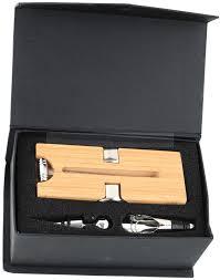 <b>Набор</b> аксессуаров для вина на деревянной подставке: штопор ...