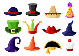 Free Vector | Christmas hats stickers