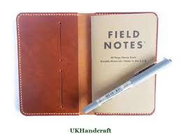 leather field notes case journal notes wallet distressed leather hand saddle sching leather gift anniversary gift field note holder