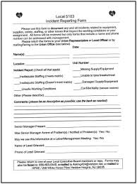 Local 5103 Incident Reporting Form Health Professionals