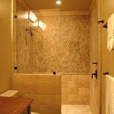 walk in shower with half wall simple glass panel walk in shower no door would build