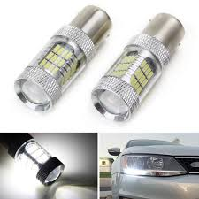 Ijdmtoy 2 Canbus Error Free Hid White 1156 Mirror Reflector Led Bulbs For 2011 2017 Volkswagen Mk6 Jetta Daytime Running Lights