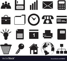 Business And Office Icons Set Royalty Free Vector Image