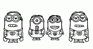 Small Picture Simple Minions Despicable Me Coloring Pages Despicable Me