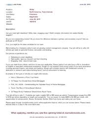 create a lance content marketing writer career lance content marketing job post