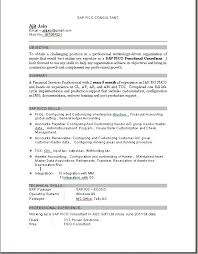 Sap Fico Resume Sample