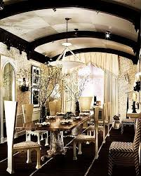 art deco dining room with wall sconce interior wallpaper wainscoting exposed beam art deco dining room