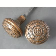 copper door knobs. antique single pair of \ copper door knobs
