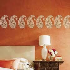 jaipur paisley wall art stencil small