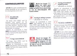 Alfa Romeo 145 146 On Line Manual Page 70 Controlelampjes