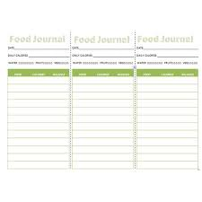 eating log three downloadable food journals pocket journal