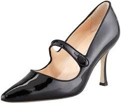manolo blahnik campari patent leather mary jane black