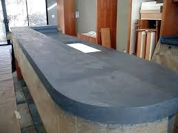 cast in place concrete countertop a closer view of a kitchen island with a concrete cast