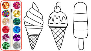 waffle cone coloring page.  Page Coloring Ice Cream For Kids  Pages Children Babies U0026 Toddlers With Waffle Cone Page R
