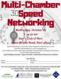 Multi Chamber Speed Networking Lakes Area Chamber Of Commerce