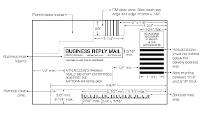 usps barcode format shows the format for business reply mail