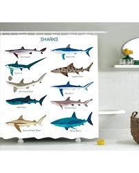 shower curtain cartoon shark types wild print for bathroom shark shower curtain fish shower curtain cartoon sandbar shark shower curtains