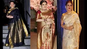 Latest Design Kanjivaram Sarees New Bollywood Actress Rekha Kanjeevaram Saree Designs Kanchipuram Sarees Kanjivaram Silk