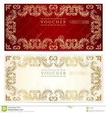 voucher gift certificate template gold pattern royalty voucher gift certificate template gold pattern