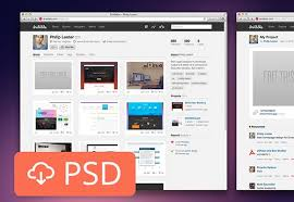Website Mockup Template Mesmerizing Dribbble PSD Mockup Freebiesbug