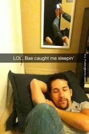 Funny memes - Caught me sleepin' | FunnyMeme.com via Relatably.com