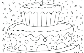 Birthday Cake Coloring Pictures Shopkins Birthday Cake Coloring Page
