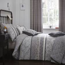 dreams n ds hanworth reversible duvet cover set charcoal single linens limited