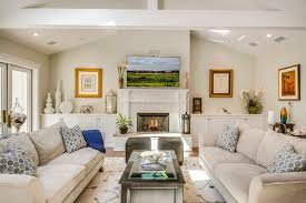 traditional living room ideas. Traditional Living Room Decorating Ideas With White Fireplace Mantel Vaulted Ceilings Raised