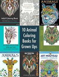 10 Animal Coloring Books For Grown Ups Diycandy Com