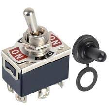reversing toggle switch 1pcs 6 pin black dpdt dc moto reverse on off on toggle switch