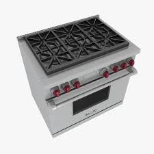 wolf gas stove. Wolf Gas Range 3D Model Stove 6