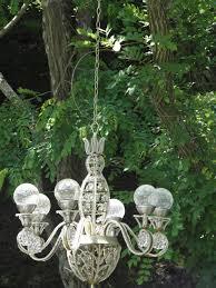 outdoor chandelier solar lights designs