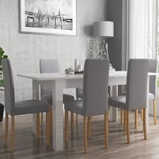 white dining room table. Vivienne Extending White High Gloss 6 Seater Dining Table Room I