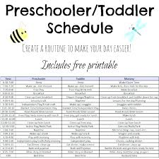 Free Printable Daily Schedule Template Printable Toddler Routine Chart Www Picswe Com