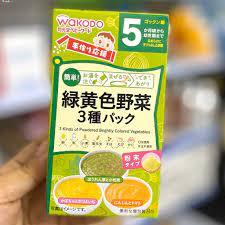 Bột ăn dặm Wakodo 3 chén số 5 vị rau củ tổng hợp