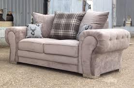 verona fabric 2 seater sofa beige mink