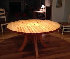 Home Made Kitchen Table Round Dining Table Made From Bowling Alley Wood 5 Steps With