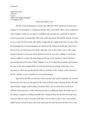 familial roles hills like white elephants essay murante  4 pages hills like white elephants essay