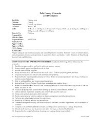 Dietary Aide Job Description For Resume Simple Free Sample Resume For Dietary Aide Ideas Collection Best Of 2