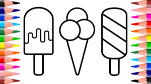 So which is your favorite flavor? How To Draw And Color Ice Cream Coloring Pages For Kids Youtube