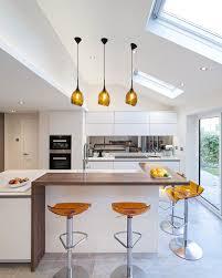 breakfast bar lighting ideas. Breakfast Bar Lighting Ideas Kitchen Contemporary With Wooden White Lacquered Doors Handless K